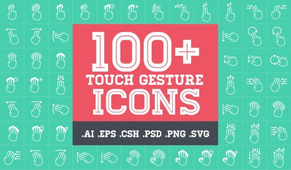 PPT手势,手势操作图标,多点触控,移动设备手势