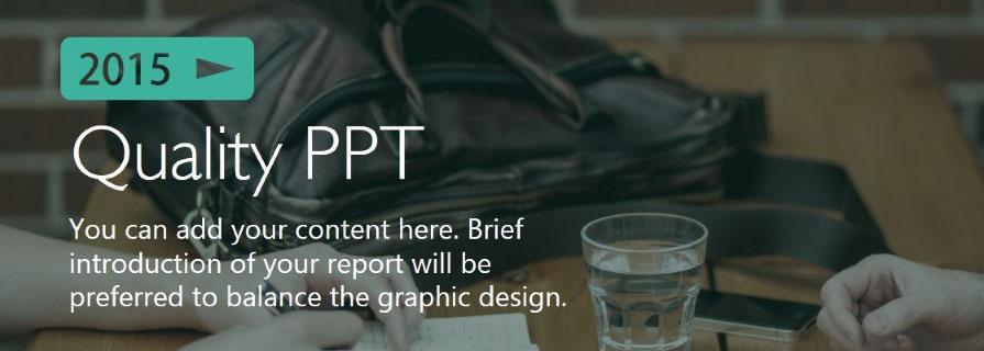 PPT模板|动态商务PPT:人生不如意大多因为PPT