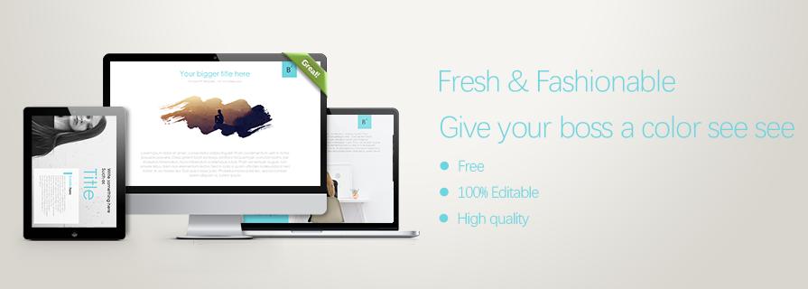 PPT雷竞技app下载官网|瞬间让你的PPT高大上:清新简洁PPT下载