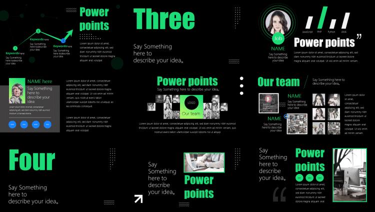keynote模板,PPT排版,动态PPT模板,工作PPT模板